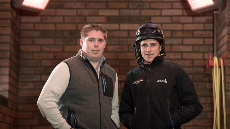 Harry Skelton (right) with brother Dan: the pair are flying high in their respective championships