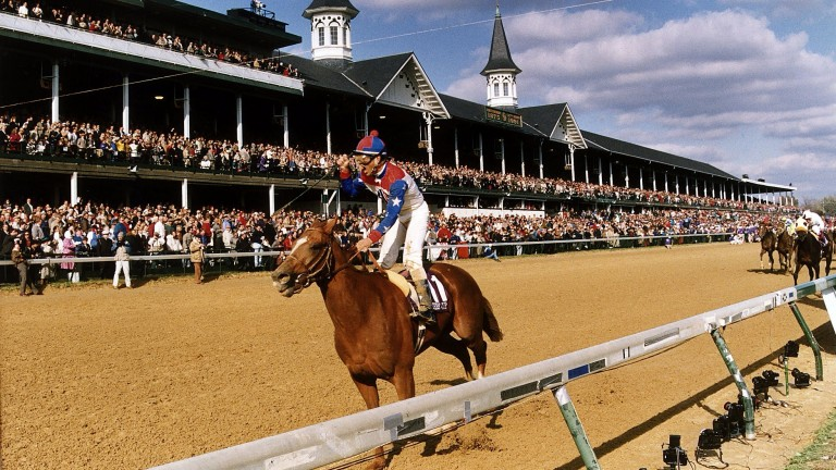Arazi takes off when storming away with the Breeders' Cup Juvenile by five lengths in the hands of Pat Valenzuela