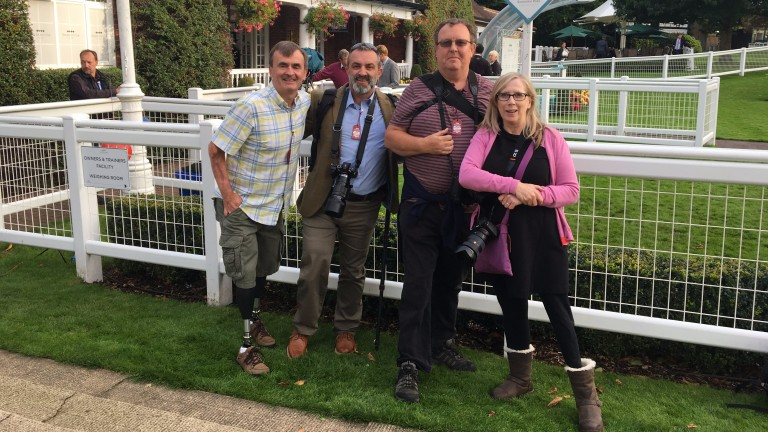 Steve McNeice, Steve Barnes, Martin Berry and Sue Wright spent a day testing their photography skills at Sandown
