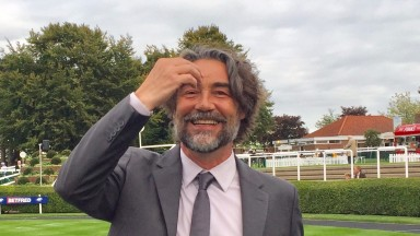 Actor Nathaniel Parker : commentated on the 6f handicap