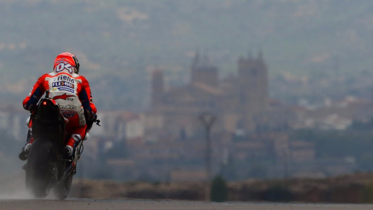 Aragon practice was wet, but the race is set to be dry