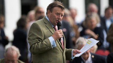 Holding court: Nicky Henderson talks through the stars on show