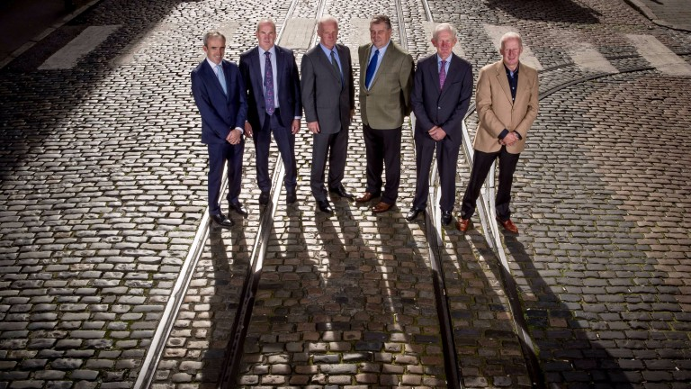 Ruby Walsh, Tony Martin, Willie Mullins, Noel Meade, Arthur Moore and Tom Taaffe at the launch of the Dublin Racing Festival at the Guinness Storehouse