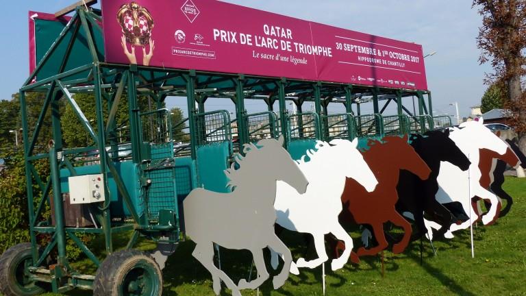 Prix de l'Arc de Triomphe starting stalls in Chantilly town