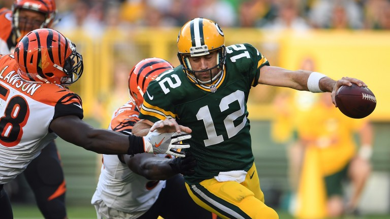 Green Bay's Aaron Rodgers can be put under pressure