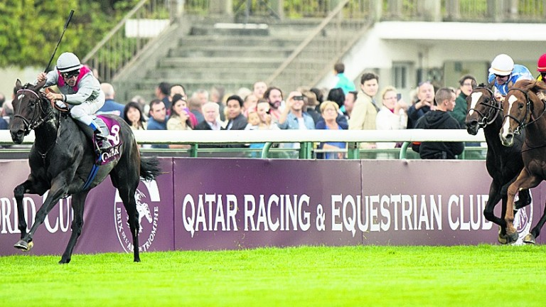 Treve goes clear of the Arc field under Thierry Jarnet