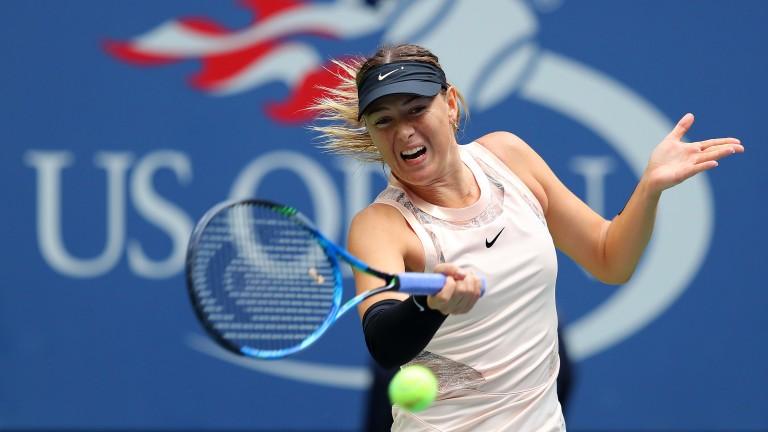 Maria Sharapova reached the last 16 of the US Open