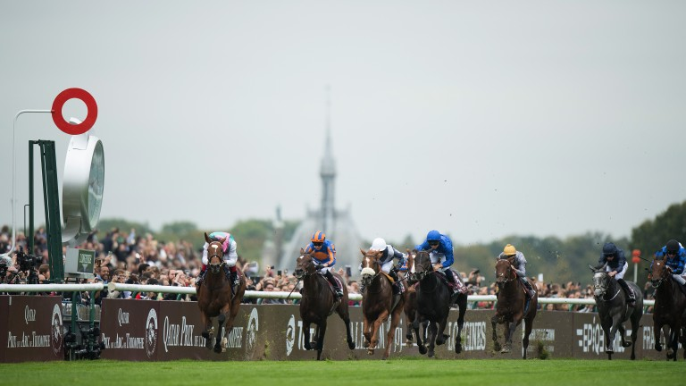 Magnificent moment: the outstanding Enable gallops to glory in the Qatar Prix de l'Arc de Triomphe under Frankie Dettori