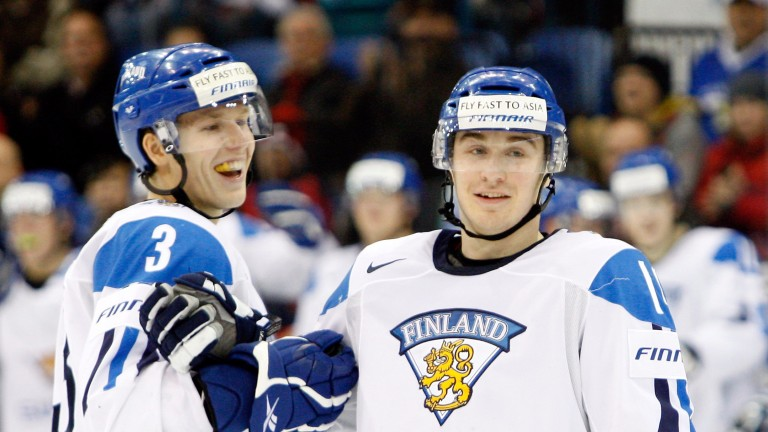Jokerit's hat-trick hero Pekka Jormakka (right)
