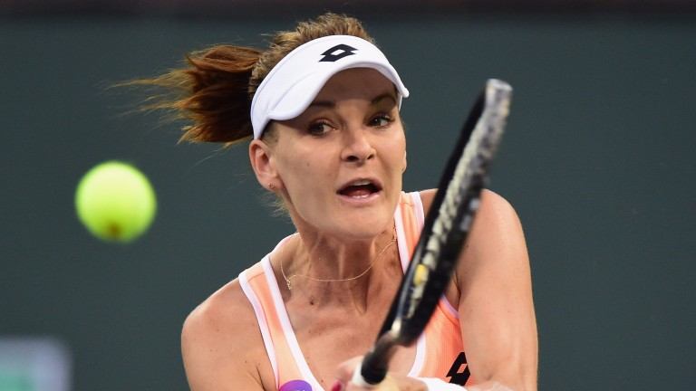 Agnieska Radwanska could be set for a long afternoon