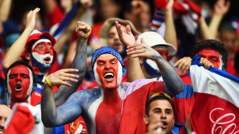 Costa Rica fans enjoy the 2014 World Cup quarter-final