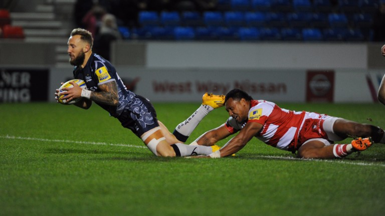 Byron McGuigan grabbed a hat-trick for Sale against Gloucester in September