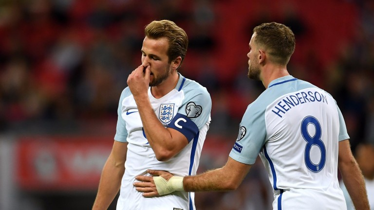England captain Harry Kane and Jordan Henderson