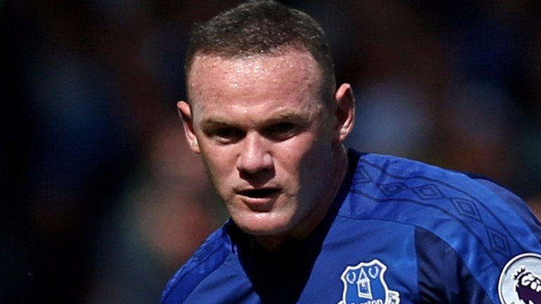 Everton forward Wayne Rooney
