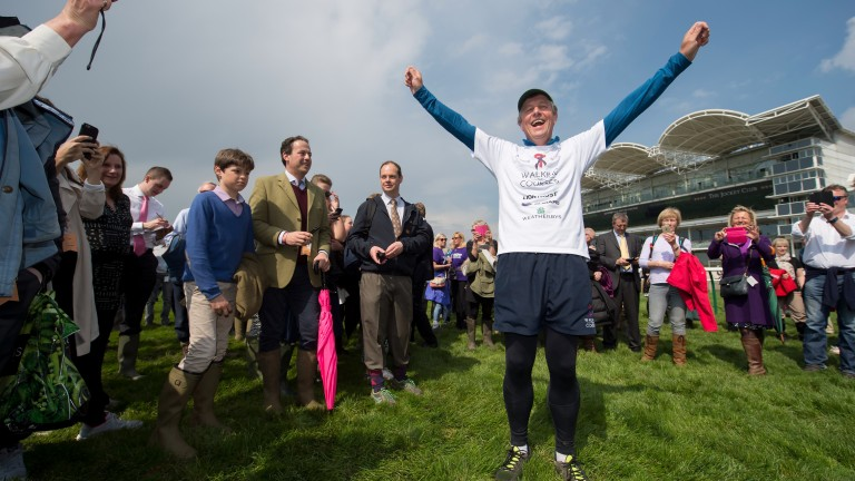 Theresa May might be jealous of Richard Farquhar's support crew during his walking challenge