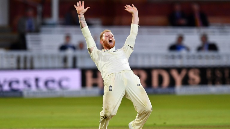 Ben Stokes appeals for a West Indies wicket at Lord's last month