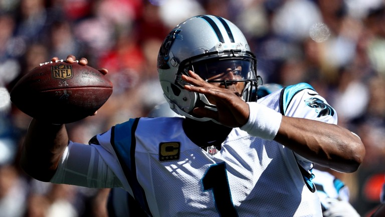 Cam Newton threw three touchdown passes against New England