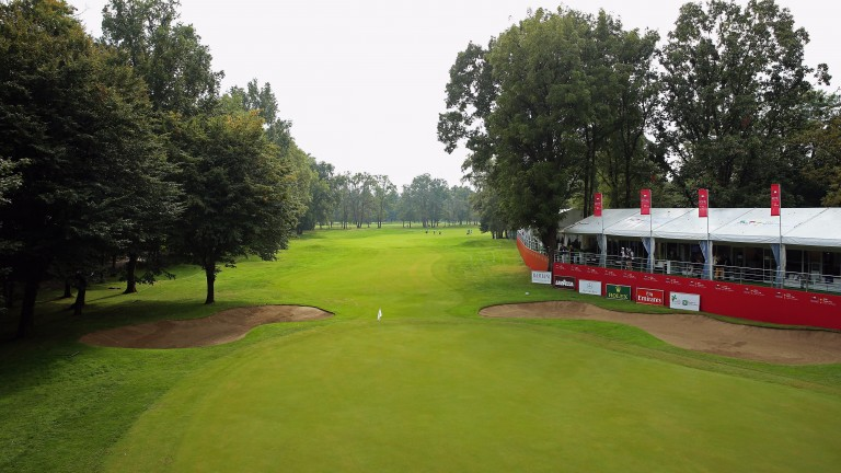 The 18th hole at Golf Club Milano