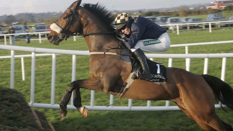 Barry Geraghty on his way to victory at Down Royal aboard Sean Mulryan's In Compliance