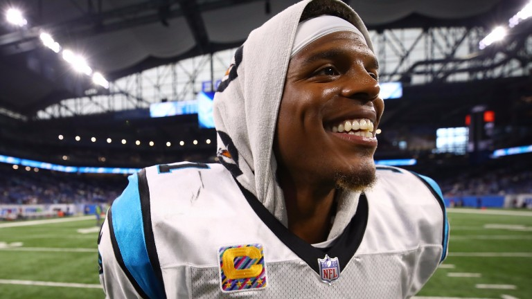 Cam Newton has had a bit more to smile about recently