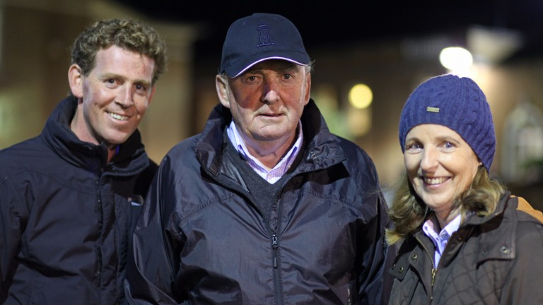 From left to right: David, Gay and Annette O'Callaghan of Yeomanstown Stud