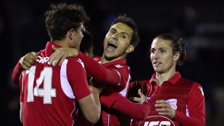 Adelaide United could be celebrating in Brisbane