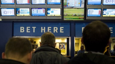Looking for respectability: regular punters go about their business