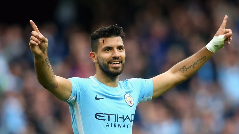 Sergio Aguero has made a rapid recovery from injury