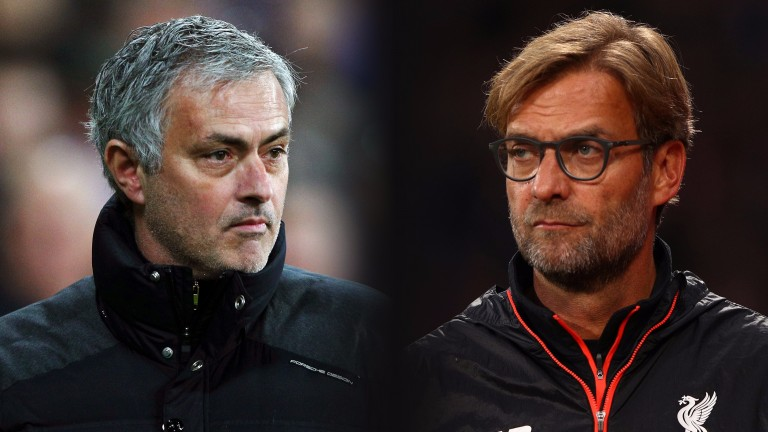 Man Utd's Jose Mourinho faces a tactical battle against Liverpool's Jurgen Klopp