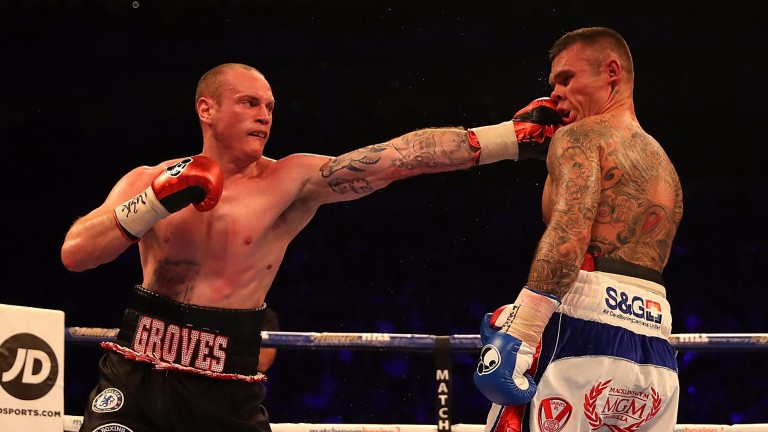George Groves lands a stiff jab on Martin Murray