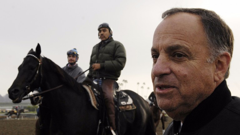 Legendary figure: five-time US champion trainer Bobby Frankel, pictured at Santa Anita in 2008