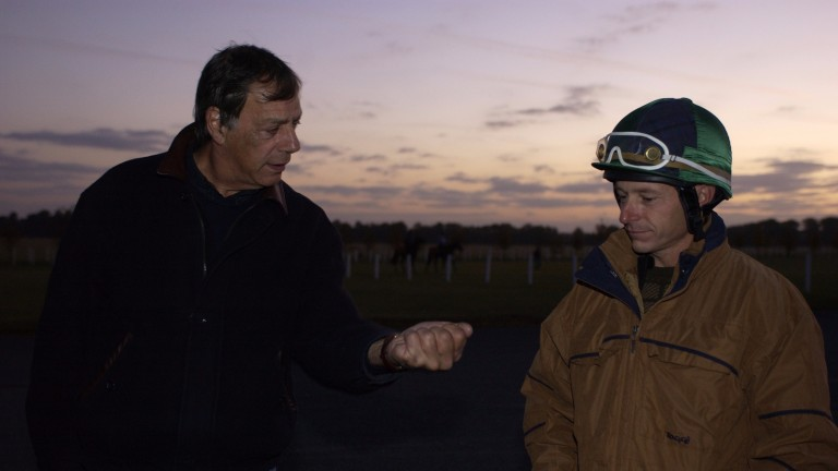 Sir Henry Cecil with Steve Cauthen