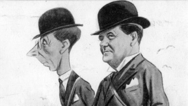 A caricature of two of the confederates – Wilfred Purefoy (left) and Percy Cunliffe
