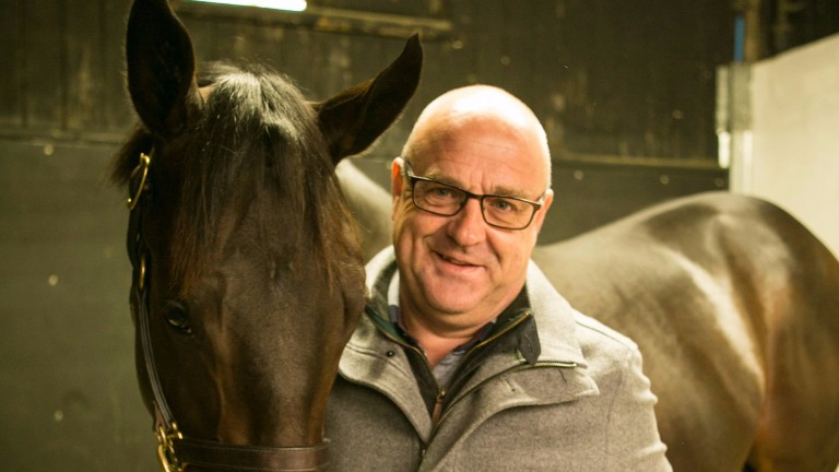 Richard Fahey with the 60,000gns son of Garswood who is on his way to the same yard as his sire