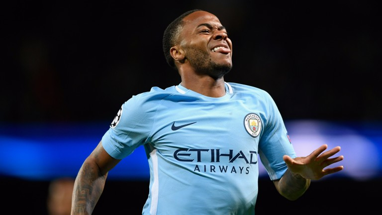 Raheem Sterling opened the scoring against Napoli