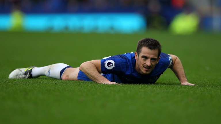 Leighton Baines's body language tells the tale of Everton's defeat to Burnley