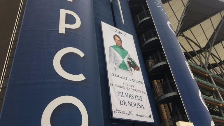 Star billing: champion-elect Silvestre de Sousa is on show