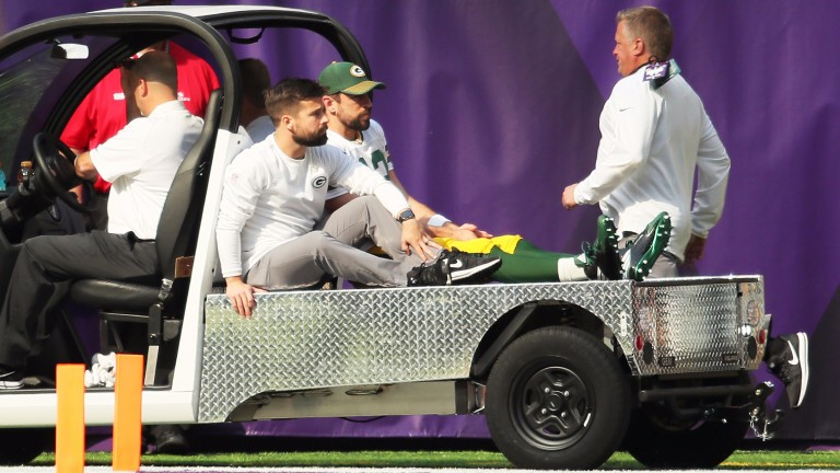 The season could be over for Green Bay quarterback Aaron Rodgers