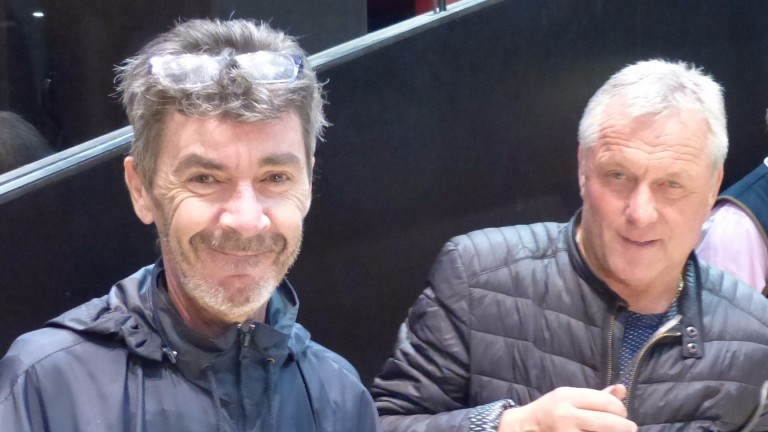Fabrice Petit (left) and Marc Pimbonnet at Arqana