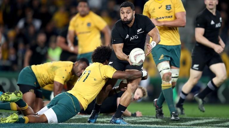 All Blacks fly-half Lima Sopoaga in action against Australia