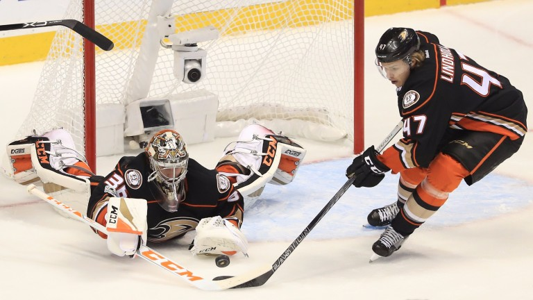 Anaheim goalie John Gibson could be in for a quiet night