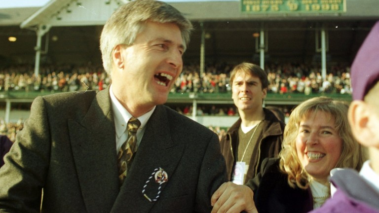 Michael Dickinson moments after Da Hoss is declared the winner of the Breeders' Cup Mile at Churchill Downs in November 1998