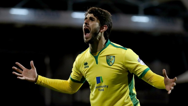 Norwich's Nelson Oliveira has been stoking the fire ahead of the Portman Road clash