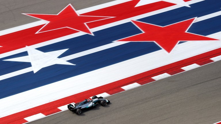 Lewis Hamilton was the star of practice in Texas