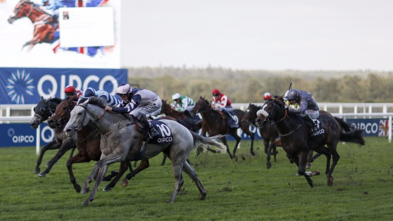 Danny Tudhope wins aboard Lord Glitters on Champions Day