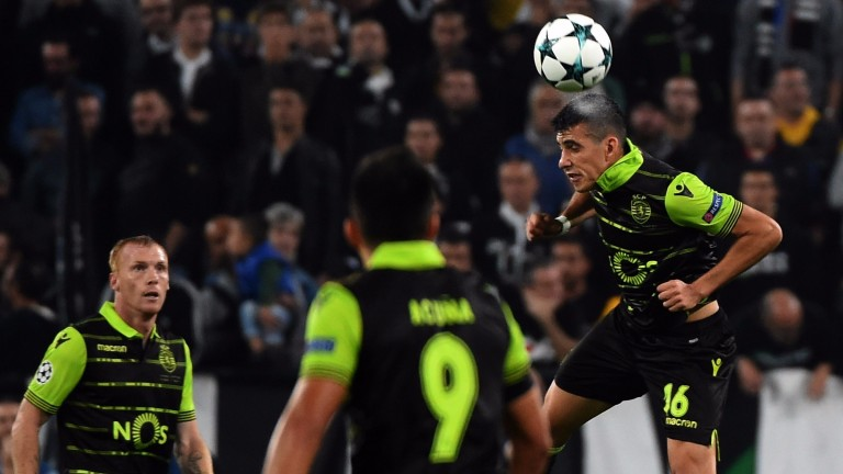 Rodrigo Battaglia of Sporting in midweek Champions League action