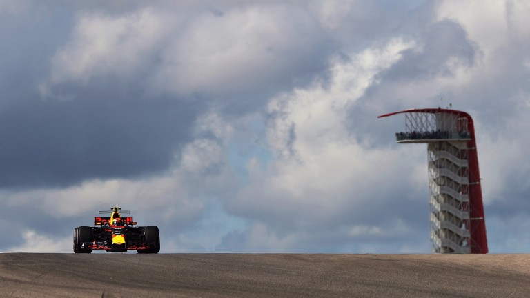 Red Bull's Max Verstappen in action in qualifying
