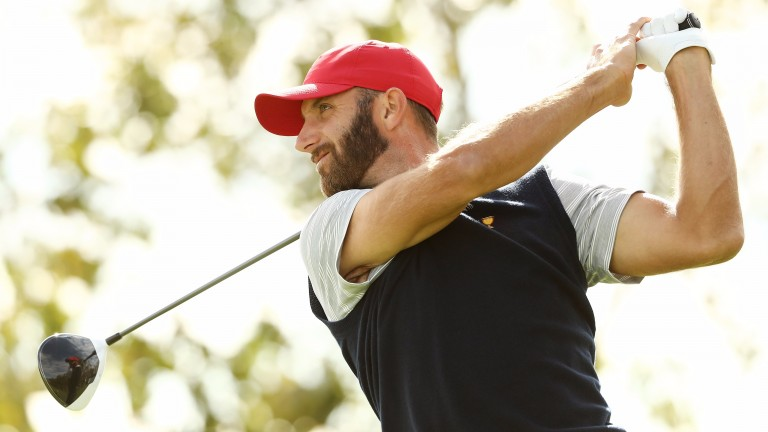 Dustin Johnson is in front in California