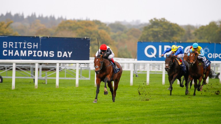 Cracksman and Frankie Dettori pull away to land the Champion Stakes by seven lengths