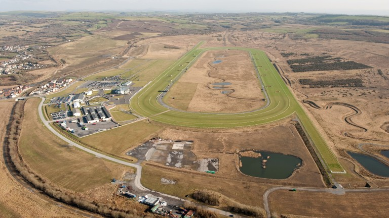 Ffos Las: once a Welsh coal mine, now a Welsh racecourse